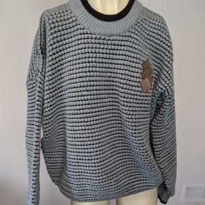 Chunky knit gray sweater